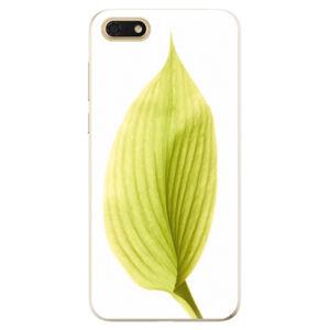 Odolné silikónové puzdro iSaprio - Green Leaf - Huawei Honor 7S