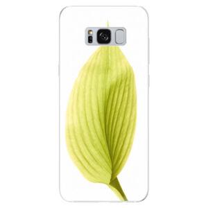 Odolné silikónové puzdro iSaprio - Green Leaf - Samsung Galaxy S8