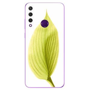 Odolné silikónové puzdro iSaprio - Green Leaf - Huawei Y6p