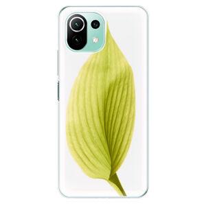 Odolné silikónové puzdro iSaprio - Green Leaf - Xiaomi Mi 11 Lite
