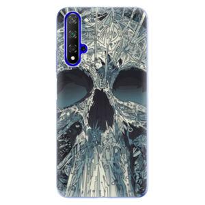 Odolné silikónové puzdro iSaprio - Abstract Skull - Huawei Honor 20