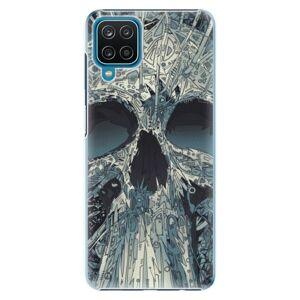 Plastové puzdro iSaprio - Abstract Skull - Samsung Galaxy A12