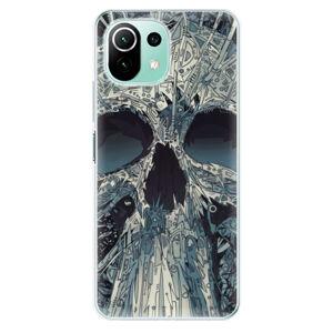 Odolné silikónové puzdro iSaprio - Abstract Skull - Xiaomi Mi 11 Lite