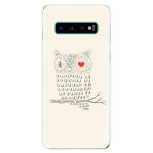 Odolné silikonové pouzdro iSaprio - I Love You 01 - Samsung Galaxy S10