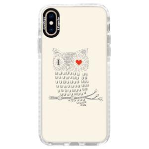 Silikónové púzdro Bumper iSaprio - I Love You 01 - iPhone XS