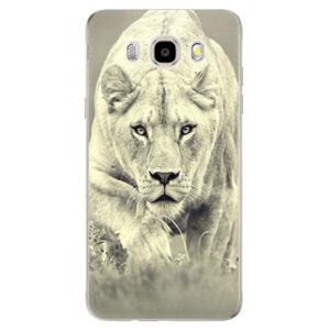 Odolné silikónové puzdro iSaprio - Lioness 01 - Samsung Galaxy J5 2016