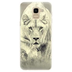 Odolné silikónové puzdro iSaprio - Lioness 01 - Samsung Galaxy J6