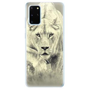 Odolné silikónové puzdro iSaprio - Lioness 01 - Samsung Galaxy S20+