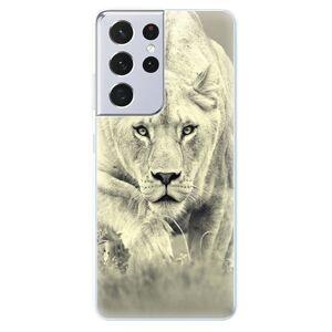 Odolné silikónové puzdro iSaprio - Lioness 01 - Samsung Galaxy S21 Ultra