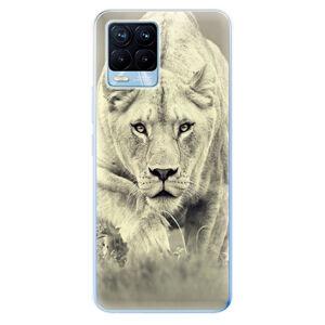 Odolné silikónové puzdro iSaprio - Lioness 01 - Realme 8 / 8 Pro