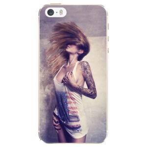 Silikónové puzdro iSaprio - Girl 01 - iPhone 5/5S/SE