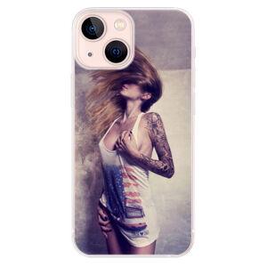 Odolné silikónové puzdro iSaprio - Girl 01 - iPhone 13 mini