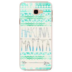 Plastové puzdro iSaprio - Hakuna Matata Green - Samsung Galaxy J4+