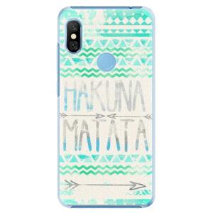 Plastové puzdro iSaprio - Hakuna Matata Green - Xiaomi Redmi Note 6 Pro