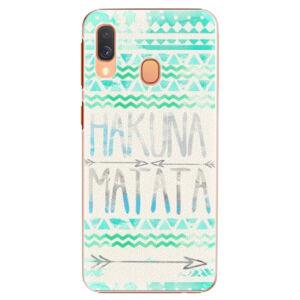 Plastové puzdro iSaprio - Hakuna Matata Green - Samsung Galaxy A40