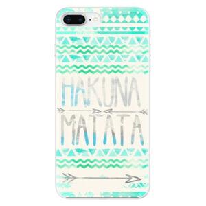 Odolné silikónové puzdro iSaprio - Hakuna Matata Green - iPhone 8 Plus
