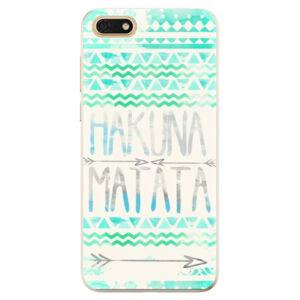 Odolné silikónové puzdro iSaprio - Hakuna Matata Green - Huawei Honor 7S