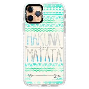 Silikónové puzdro Bumper iSaprio - Hakuna Matata Green - iPhone 11 Pro