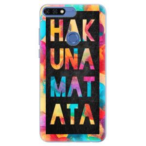 Silikónové puzdro iSaprio - Hakuna Matata 01 - Huawei Honor 7C