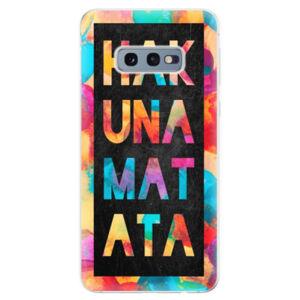 Odolné silikonové pouzdro iSaprio - Hakuna Matata 01 - Samsung Galaxy S10e