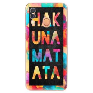 Odolné silikónové puzdro iSaprio - Hakuna Matata 01 - Samsung Galaxy A40