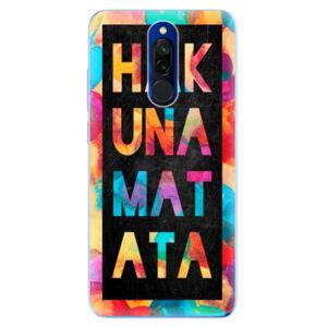 Odolné silikónové puzdro iSaprio - Hakuna Matata 01 - Xiaomi Redmi 8