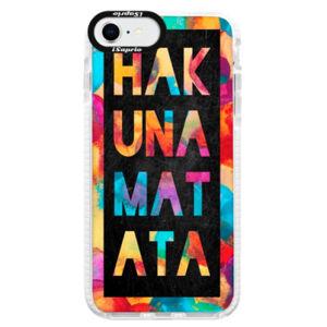 Silikónové puzdro Bumper iSaprio - Hakuna Matata 01 - iPhone SE 2020