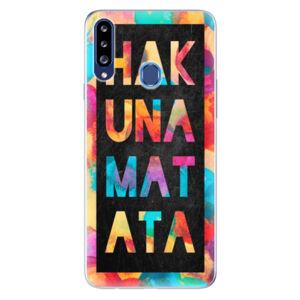 Odolné silikónové puzdro iSaprio - Hakuna Matata 01 - Samsung Galaxy A20s