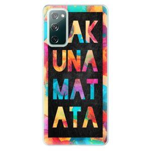 Odolné silikónové puzdro iSaprio - Hakuna Matata 01 - Samsung Galaxy S20 FE