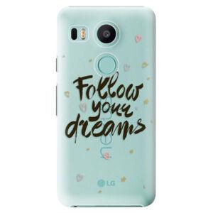 Plastové puzdro iSaprio - Follow Your Dreams - black - LG Nexus 5X