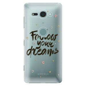 Plastové puzdro iSaprio - Follow Your Dreams - black - Sony Xperia XZ2 Compact