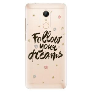 Plastové puzdro iSaprio - Follow Your Dreams - black - Xiaomi Redmi 5
