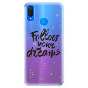 Silikónové puzdro iSaprio - Follow Your Dreams - black - Huawei Nova 3i
