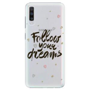 Plastové puzdro iSaprio - Follow Your Dreams - black - Samsung Galaxy A70