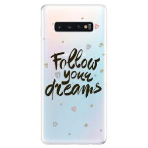 Odolné silikonové pouzdro iSaprio - Follow Your Dreams - black - Samsung Galaxy S10+