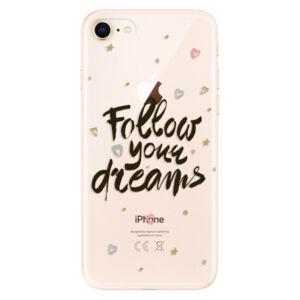 Odolné silikónové puzdro iSaprio - Follow Your Dreams - black - iPhone 8