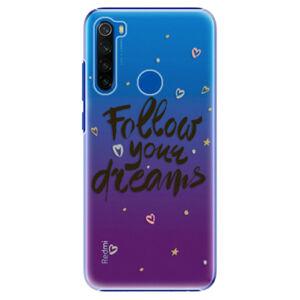 Plastové puzdro iSaprio - Follow Your Dreams - black - Xiaomi Redmi Note 8T