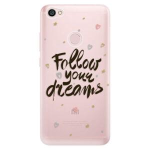 Odolné silikónové puzdro iSaprio - Follow Your Dreams - black - Xiaomi Redmi Note 5A / 5A Prime