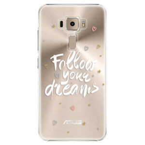 Plastové puzdro iSaprio - Follow Your Dreams - white - Asus ZenFone 3 ZE520KL