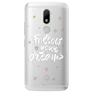 Plastové puzdro iSaprio - Follow Your Dreams - white - Lenovo Moto M