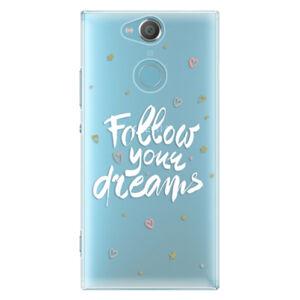 Plastové puzdro iSaprio - Follow Your Dreams - white - Sony Xperia XA2