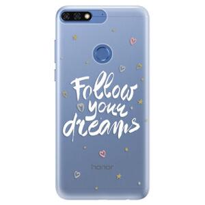 Silikónové puzdro iSaprio - Follow Your Dreams - white - Huawei Honor 7C