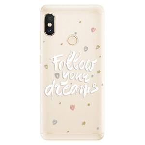Silikónové puzdro iSaprio - Follow Your Dreams - white - Xiaomi Redmi Note 5