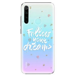 Plastové puzdro iSaprio - Follow Your Dreams - white - Xiaomi Redmi Note 8