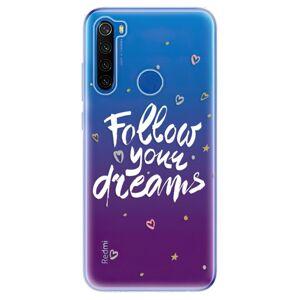 Odolné silikónové puzdro iSaprio - Follow Your Dreams - white - Xiaomi Redmi Note 8T