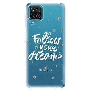 Plastové puzdro iSaprio - Follow Your Dreams - white - Samsung Galaxy A12