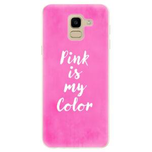 Odolné silikónové puzdro iSaprio - Pink is my color - Samsung Galaxy J6