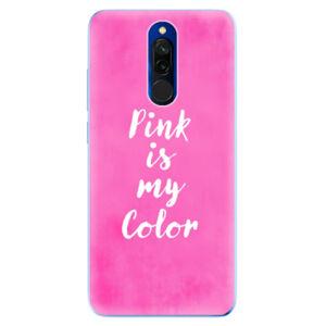 Odolné silikónové puzdro iSaprio - Pink is my color - Xiaomi Redmi 8