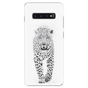 Plastové puzdro iSaprio - White Jaguar - Samsung Galaxy S10+