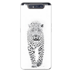 Odolné silikónové puzdro iSaprio - White Jaguar - Samsung Galaxy A80